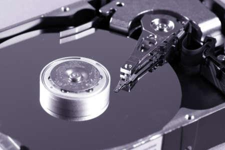 Macro photo - Hard Disk Drive. Great details ! photo
