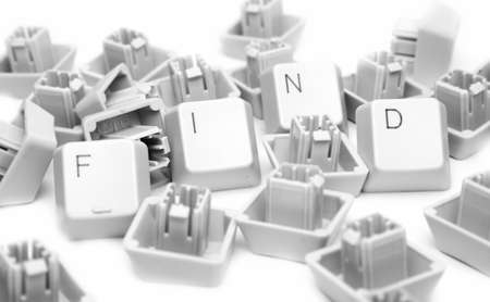 FIND keyboard, isolated on white. Great details photo