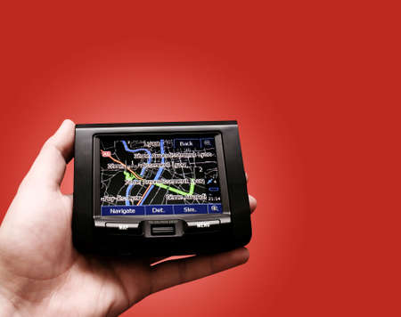 Gps in a man hand. Find your way ! Stock Photo - 11531283