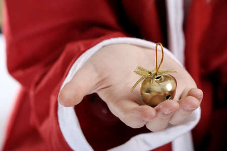 ringer: Santa clause with ringer in his hands. Stock Photo