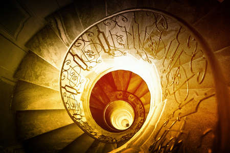 Very old spiral stairway case Stock Photo - 11598636