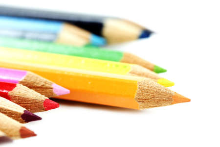 colored pencil: Close-up pencil. Very good details and colors. Stock Photo