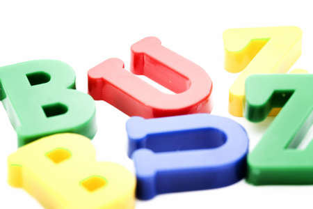 buzz word: Close-up of letters. Buzz word. Stock Photo