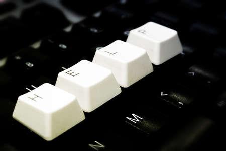 Black Keyboard, blurred, with white keys - HELP photo