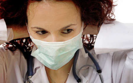 Close-up portrait of a young doctor Stock Photo - 13040943