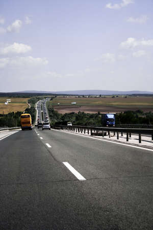 Picture of a empty highway. photo