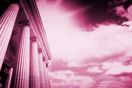 Picture of large greek freestone columns . Stock Photo - 14086113