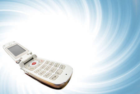 Modern clamshell cell phone Stock Photo - 14086123