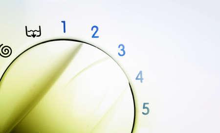 Big wheel of a laundry. Close up. Stock Photo