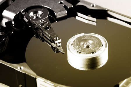 Macro photo - Hard Disk Drive. Stock Photo - 14086392