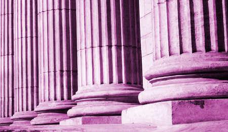 academia: Close-up of a bright classical pillar