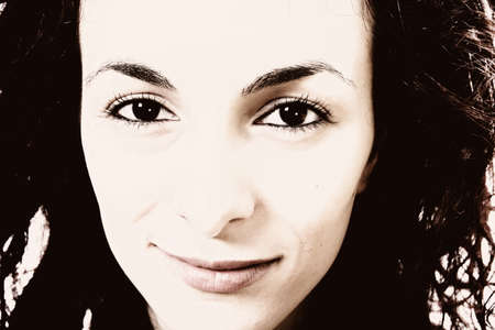 Close-up of a beautiful woman face. Stock Photo - 17597149