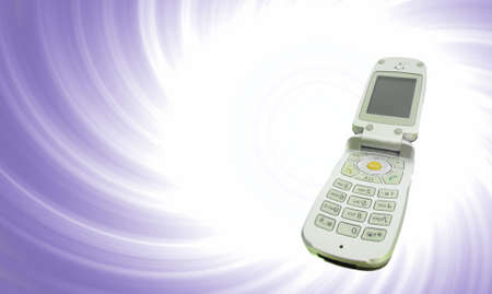 Modern clamshell cell phone Stock Photo - 17987802