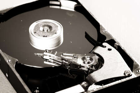 Macro photo - Hard Disk Drive. Great details ! photo