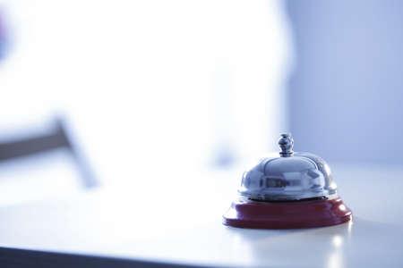 Close-up foto van een klok in een hotel Stockfoto