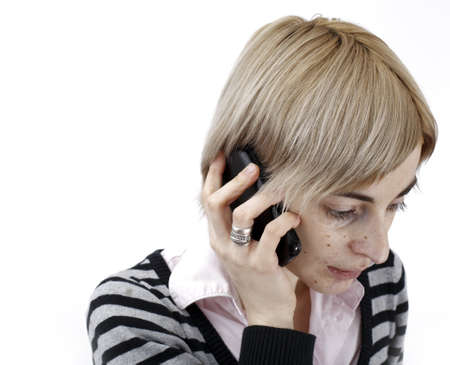 Close up photo of a woman talking on phone. Stock Photo - 20280383