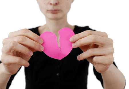 Heart shape Posst It and a Woman photo