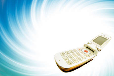 recieve: Modern clamshell cell phone Stock Photo