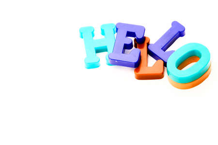 Close-up of letters. Hello word. Reklamní fotografie
