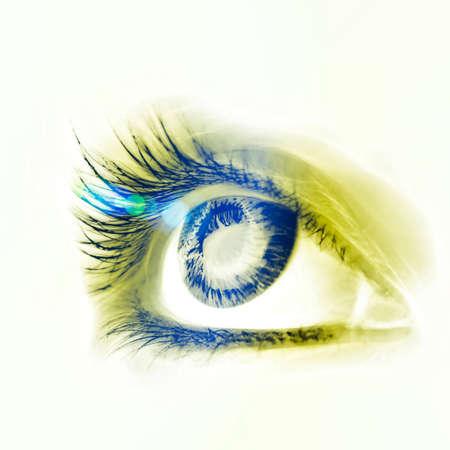 Great big eye. Macro. photo