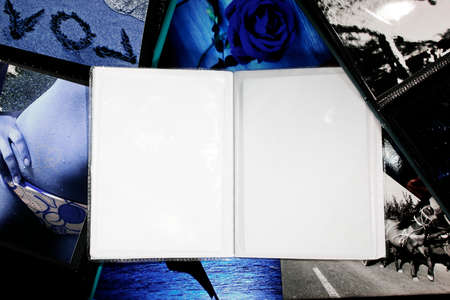 Photo Album with copy space. Great details! photo