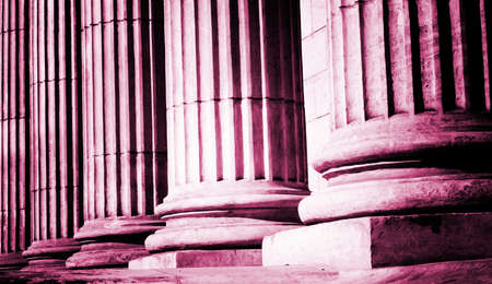 Close-up of a bright classical pillar photo