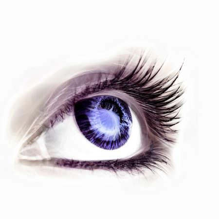 ojos azules: Great big eye. Macro.