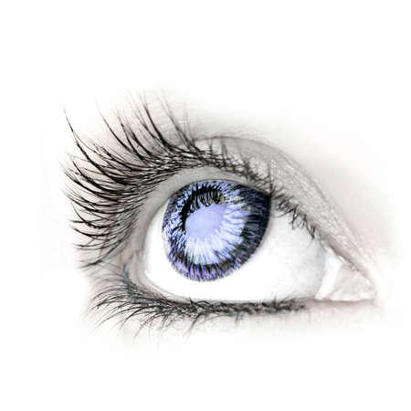 big eye: Great big eye. Macro.