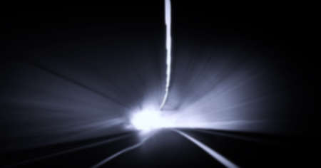 car lights: Car lights trails in a tunnel