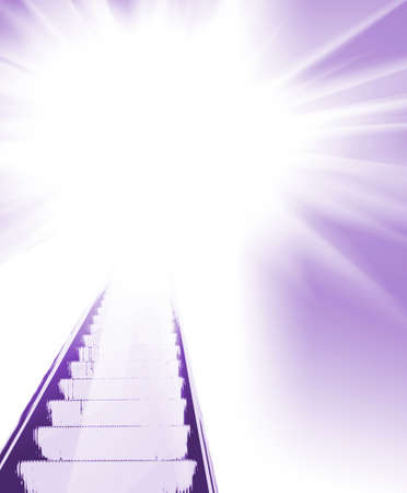 divinity: Abstract stairs to light