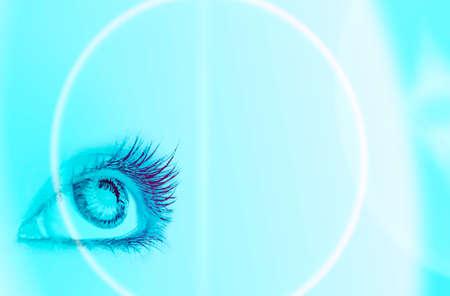 contact lens: Great big eye. Macro.