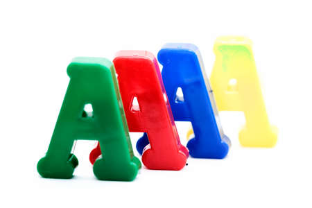 Close-up of letters. Great colours and details. Stock Photo