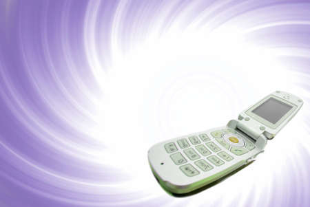 wireles: Modern clamshell cell phone Stock Photo