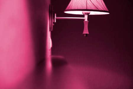 Blur picyure of an mauve lamp. Stock Photo