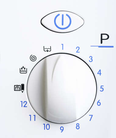 big wheel: Big wheel of a laundry. Close up. Stock Photo