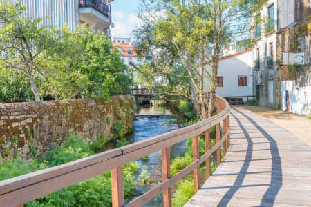 Bemanna riverwalk in Caldas de Reis city