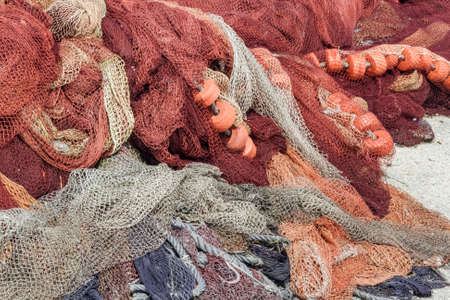 buoys: Purse seine net for fishing Stock Photo