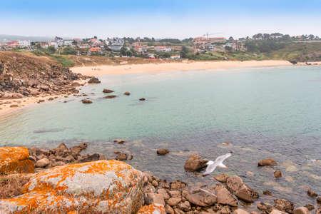Foxos beach in Sanxenxo from the Lanzada hermitage