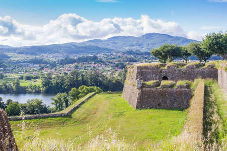 Valenca do Minho walled fortress over the river in Portugal