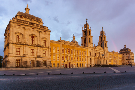 Mafra Portugal, 21 June 2018. National Palace of Mafra in Mafra village near Lisbon. Convent and Basilica of Portugal