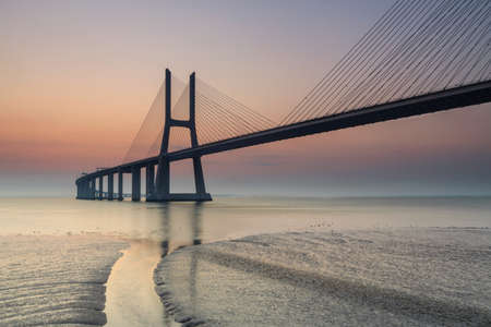 Lisbon is an amazing tourist destination because their urban landscapes, by its light, its monuments. The Vasco da Gama Bridge crosses the Tagus River, and is one of the longest bridges in the world