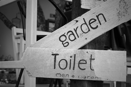 gent's: toilet vintage labe sign