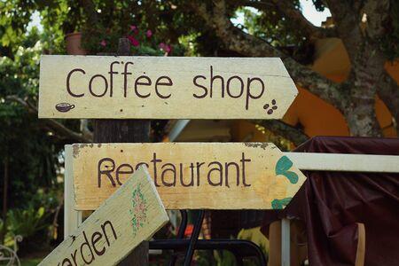 gents: coffee shop vintage label sign