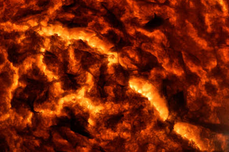 tectonics: Hot Molten Lava 1. The cracking crust of a hot flow of magma.