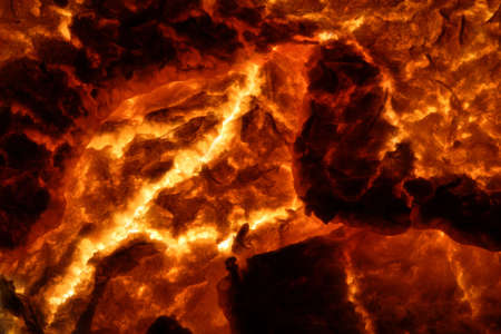 solidify: Hot Molten Lava 4. The cracking crust of a hot flow of magma.