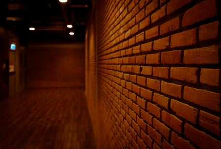 perspective brick wall background texture grunge and vintage abstract as backdrops