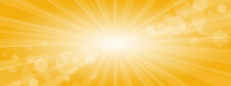 Sunny background with yellow ray background Imagens