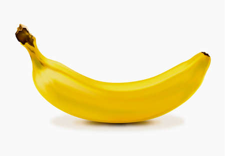 photo realism: Ripe banana Illustration
