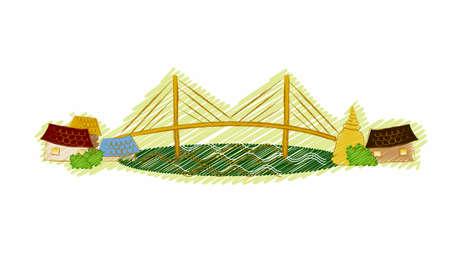 steel bridge: River of Thailand