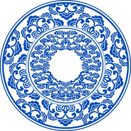 blauw en wit patroon Stock Illustratie